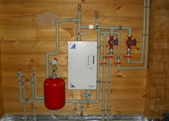 Обвязка электрического котла в топочной