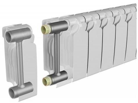 Алюминиевый радиатор со стальным каркасом