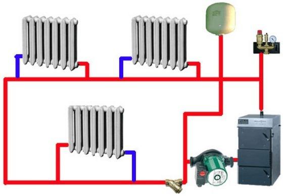 разводка труб отопления в частном доме