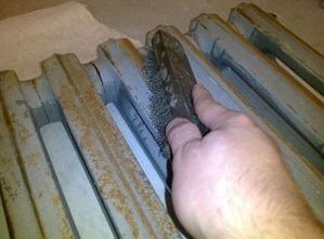 Удаление ржавчины с радиатора