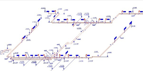 Схема по отоплению из полипропиленовых труб