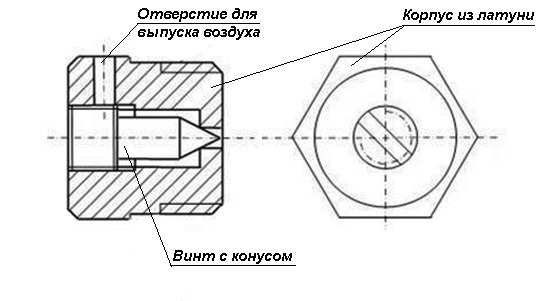 схема ручного крана