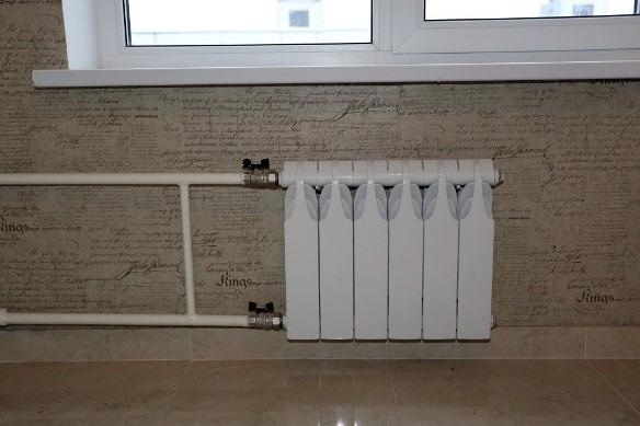 монтаж крана на радиатор