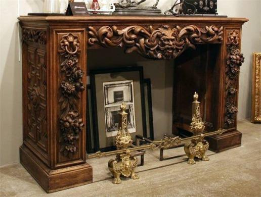 портал из массива древесины