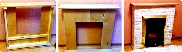 каркас для портала из деревянных брусков