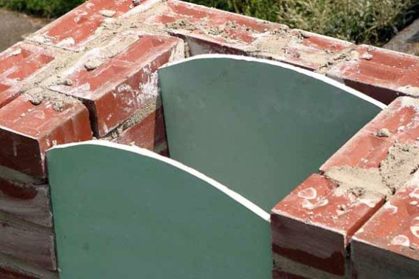 шаблоны для арочных сводов печи