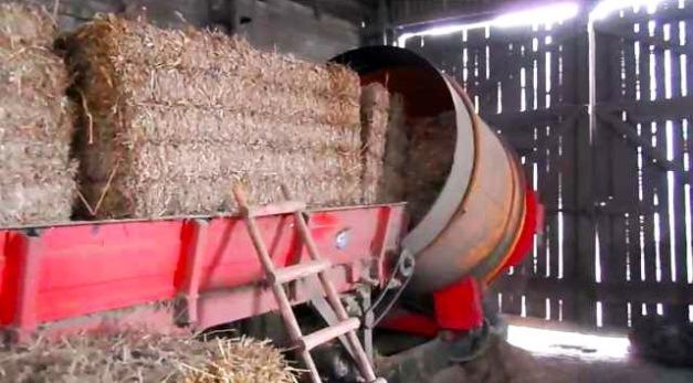 линия по производству соломенных брикетов