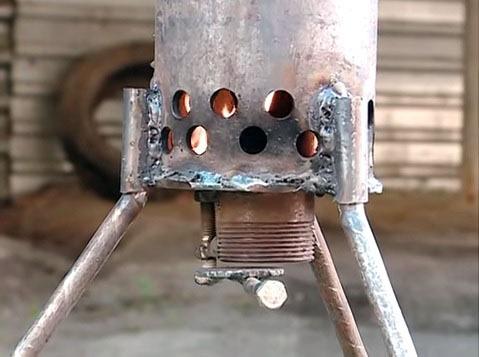 отопитель на солярке из металлической трубы