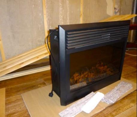 электрический камин с имитацией огня