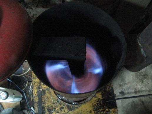 печь из трубы на малой тяге