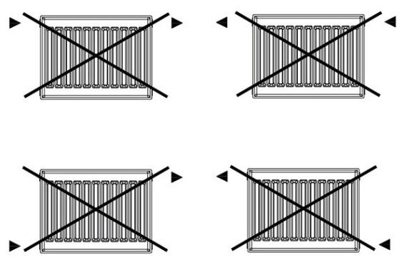 правило установки радиаторов