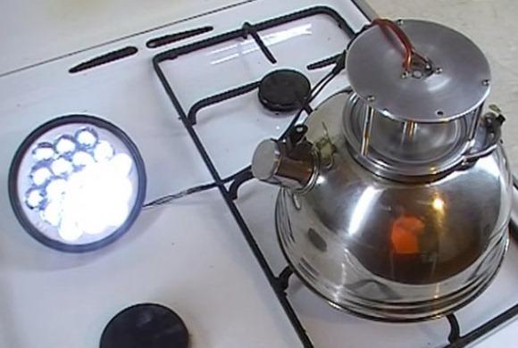 турбинированный чайник с электрогенератором