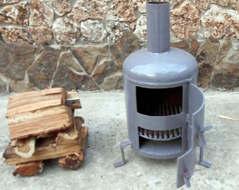 металлическая печь для отопления