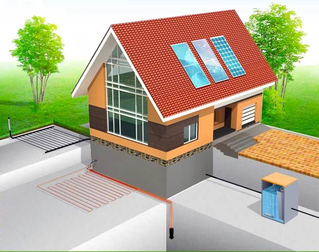 солнечная батарея для отопления дома