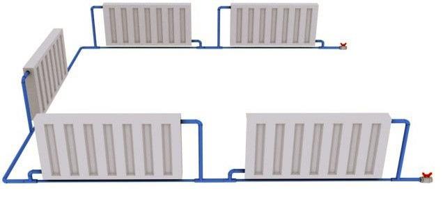 система отопления жилой площади