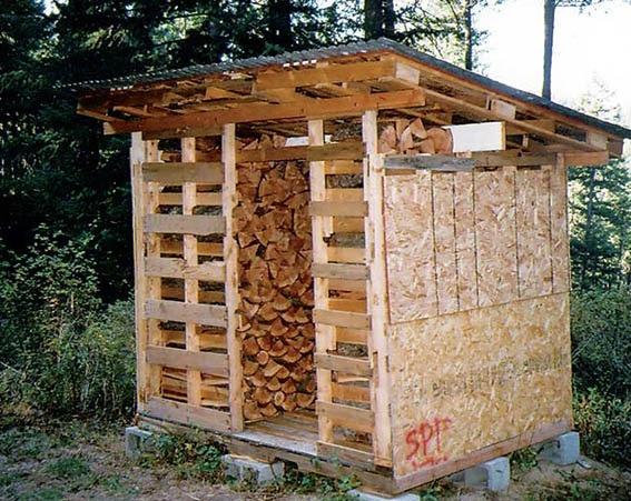 простые модули для укрытия дров