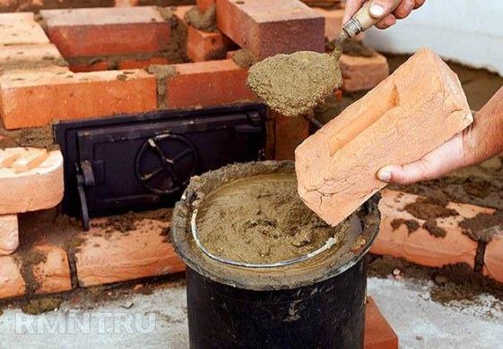 приготовление кладочной смеси из глины