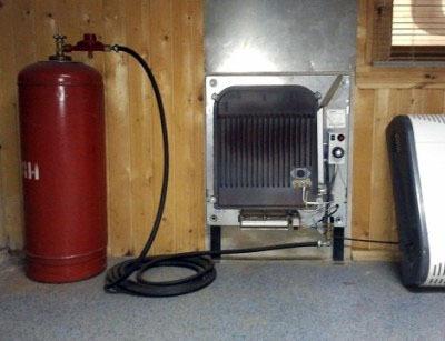 использование газовых баллонов для отопления дачи