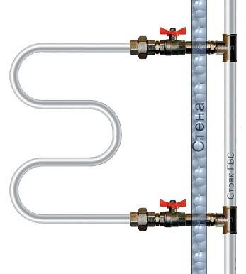 схема подключения проточной водяной сушилки