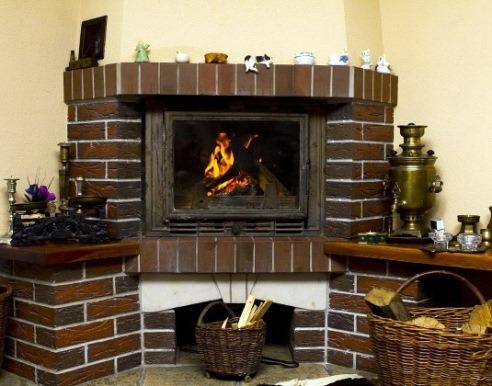 каминная печь на дровах