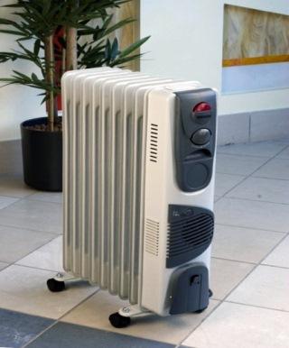 передвижной масляный радиатор
