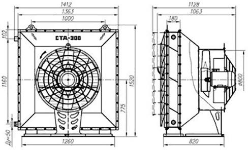 конструкция воздушно-отопительного аппарата