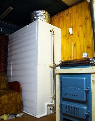 утепление теплоаккумулятора пенопластом