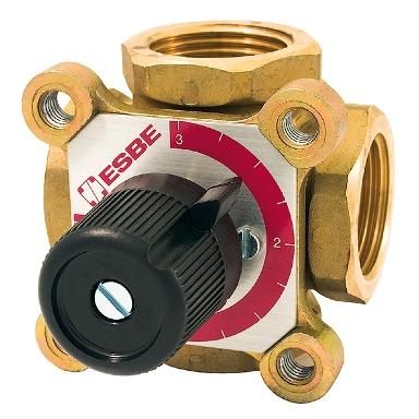 четырехходовой клапан с ручным управлением