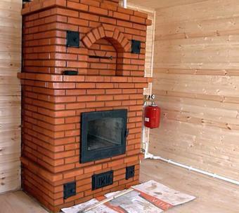 стационарная кирпичная печь для обогрева дома