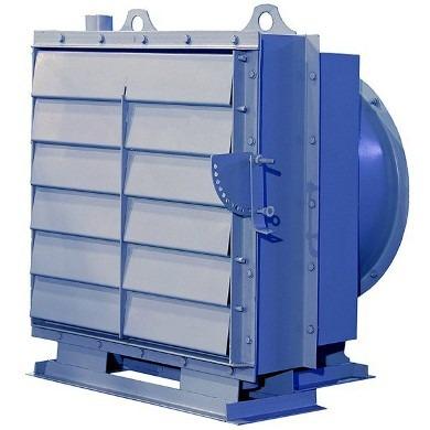 осевой вентилятор для обогрева производственных площадей