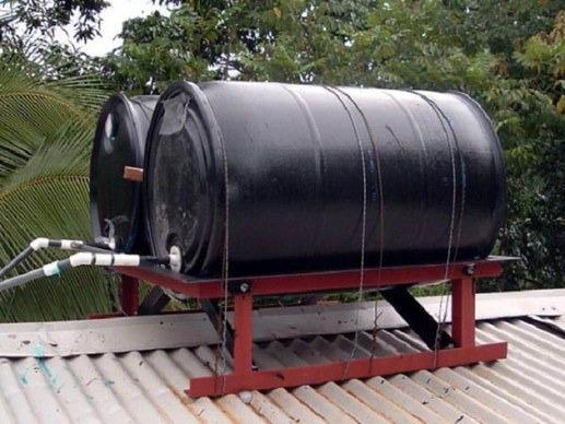 самодельный водонагреватель с металлической емкости