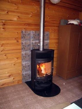 обогрев помещения стальной печью