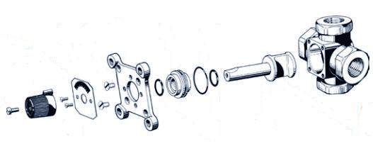 конструкция четырехходового клапана