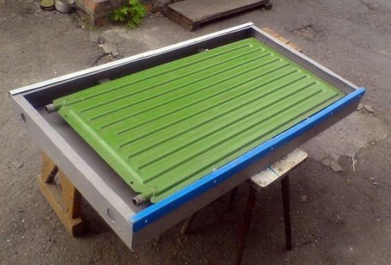 использование стального радиатора для контура нагревателя