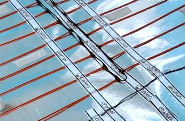 теплый пол с карбоновыми стержнями