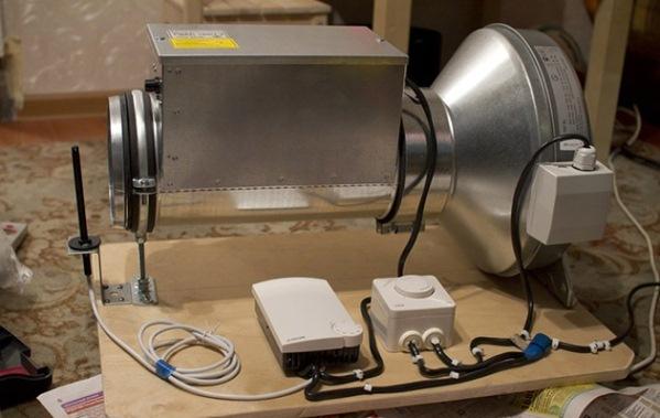 самодельная тепловая пушка, питающаяся электроэнергией
