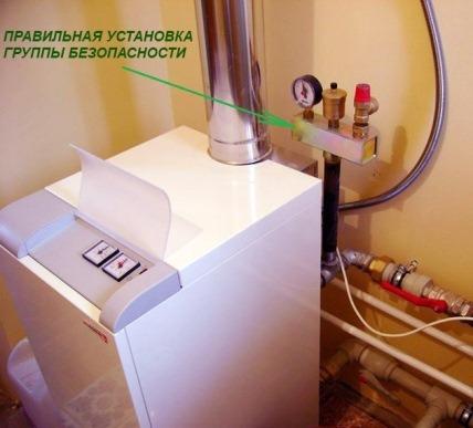 Группа безопасности для котла отопления