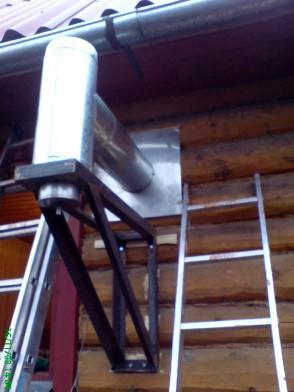 монтаж газохода из металла снаружи дома
