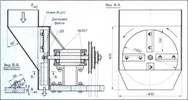 чертеж дисковой дробилки