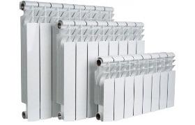 Типовые размеры алюминиевых и биметаллических радиаторов
