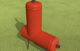 Как сделать буржуйку длительного горения из газового балона