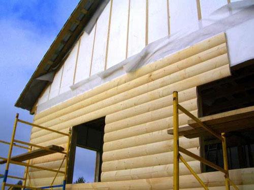 наружная отделка деревянного дома блок-хаусом