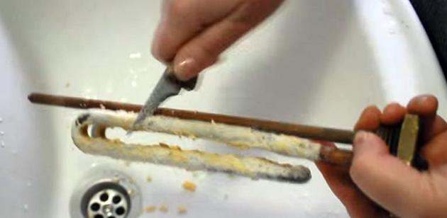 механический способ удаления накипи с ТЭНа