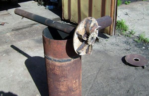 металлический отопитель длительного горения