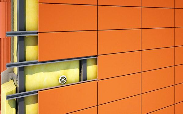 каркас из оцинкованных профилей для обшивки фасада