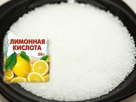 применение лимонной кислоты для удаления известкового налета
