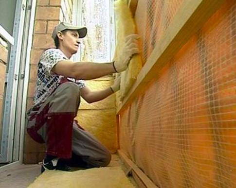 применение минеральной ваты для утепления балкона