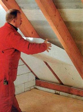 теплоизоляция крыши плитами пенопласта