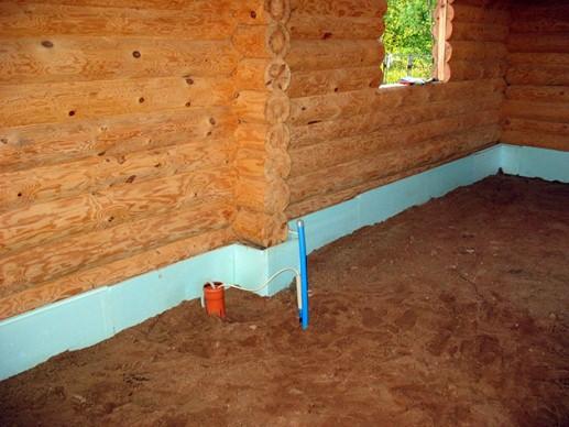 теплоизоляция пола в доме из дерева