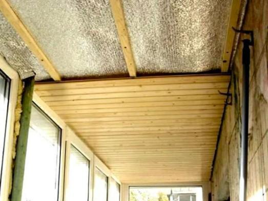 тепловая изоляция потолка балкона
